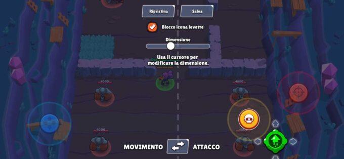 Brawl Stars permette di spostare i bottoni sullo schermo