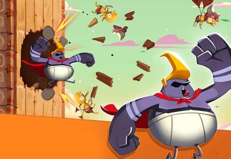 Volare e spaccare ogni cosa: Rocky Rampage ora su iOS e Android