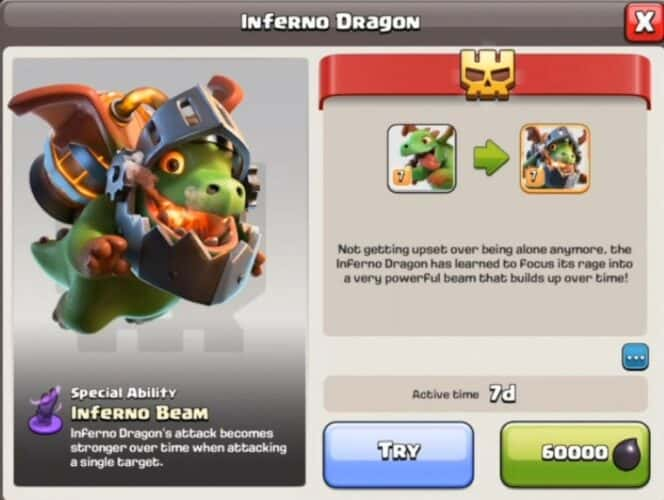 drago infernale clash of clans
