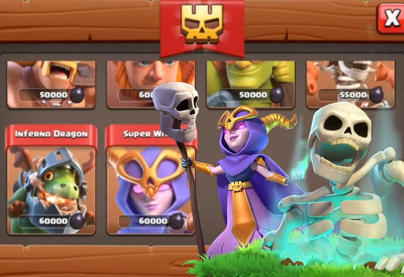 Nuove Super Truppe su Clash of Clans: Super Strega e Drago Infernale