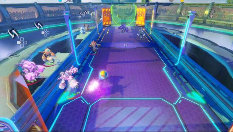 Smash Ball è un air-hockey ma con i robot e in un campo 3D futuristico!