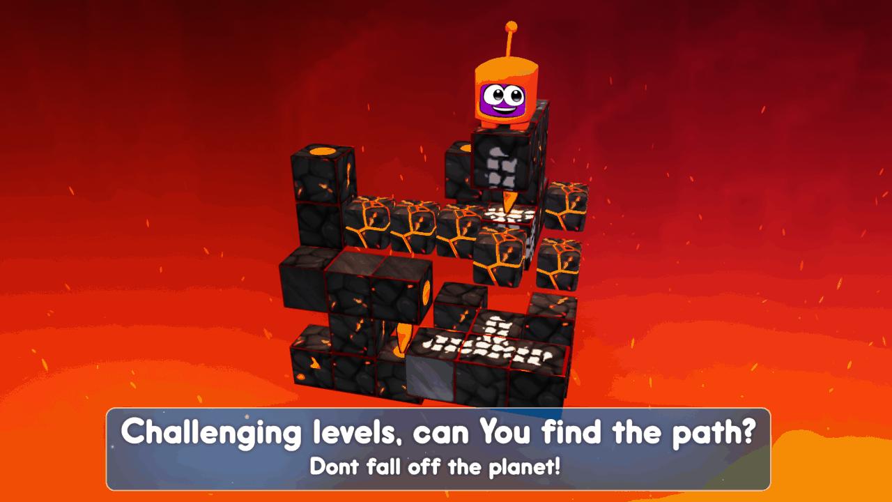 Twisty Planets è un rompicapo 3D con comando rotazione