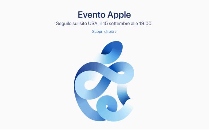 Evento Apple Keynote 15 settembre