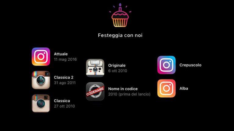10 anni di Instagram: Come cambiare l'icona dell'app