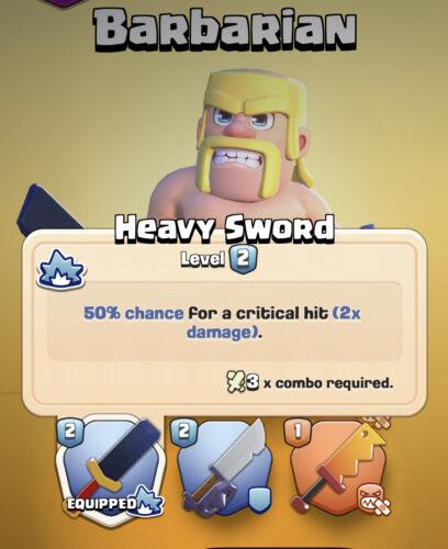 Clash quest heavy sword