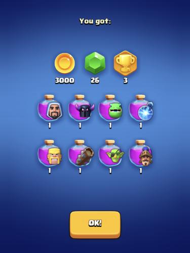 Clash Quest league rewards
