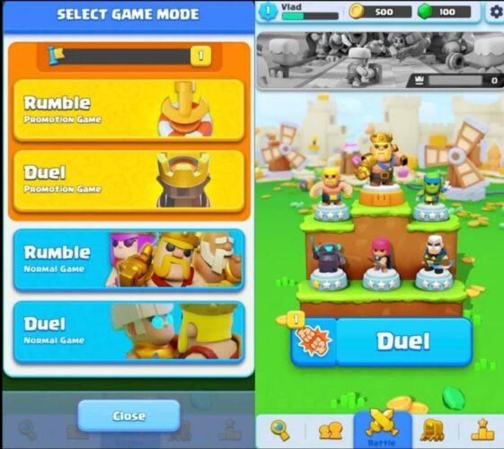 Clash mini mini minute 4 rank leghe modalità di gioco competitive